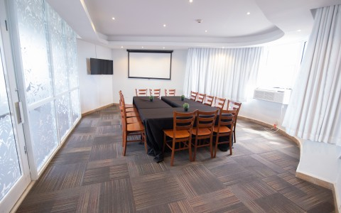 meeting room with conference table
